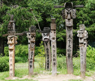 koreanska carvings Royaltyfri Fotografi