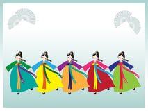 koreanska dansare Arkivfoto