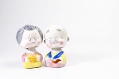 Koreanska keramiska dockor Royaltyfri Foto