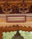Koreanska Klocka av fred och harmoni, Wien, Virginia Arkivbild