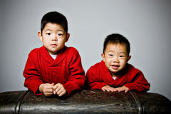 koreanska pojkar arkivbild