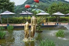 Koreanska statyer Royaltyfri Bild