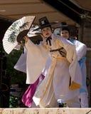 Koreanska traditionella dansare Arkivbild