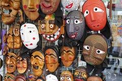 Koreanska traditionella maskeringar Fotografering för Bildbyråer