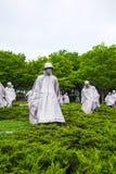 Koreanska veteran som är minnes- i Washington, DC Arkivbilder