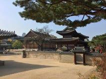 Koreanskt hus Fotografering för Bildbyråer