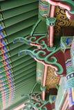 Koreanskt Klocka för utsmyckad arkitektonisk detalj kamratskap Royaltyfri Fotografi