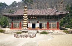 koreanskt norr tempel Arkivbilder