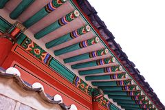 koreanskt tak Fotografering för Bildbyråer