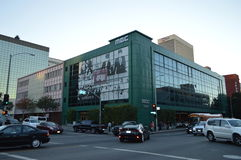 Koreatown Los Angeles MBC Building. Koreatown Los Angeles Street scene 2015 KPOP Royalty Free Stock Images