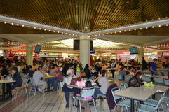 Koreatown Plaza Los Angeles Foodcourt Christmas. 2015 Royalty Free Stock Images
