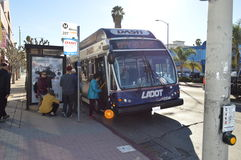 Koreatown Public Tranportation Dash Los Angeles Christmas Front Entry. Bus 2015 Royalty Free Stock Images