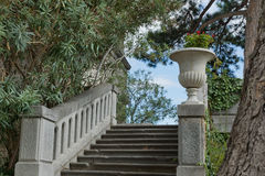 KOREIZ, CRIMEA, RUSSIA - SEPTEMBER 19.2014: Stairs in the Park the Yusupov Palace. Stock Image