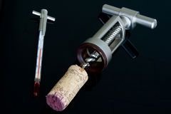 Korek i corkscrew Fotografia Royalty Free