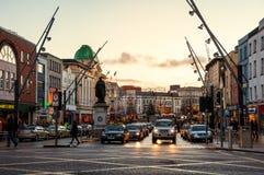 Korek, Irlandia w wieczór przy zmierzchem Obrazy Royalty Free