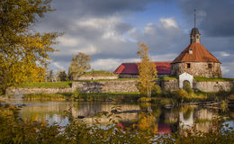 Korela堡垒看法在Vuoksa河 免版税库存图片