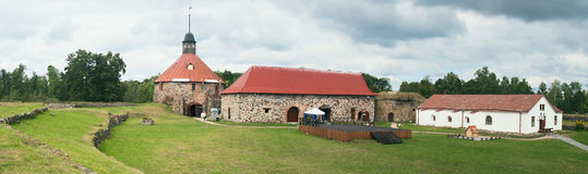 Korela Fortress in  Priozersk (1295) Stock Photo