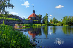 Korela fortress in Priozersk, Russia royalty free stock photo