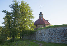 The Korela fortress on a summer morning. Priozersk Royalty Free Stock Photo