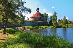 Korela (Kexholm) fortress in Priozersk Stock Photos