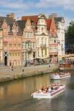 Korenlei gand belgium fotografia stock libera da diritti
