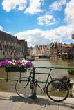 Korenlei gand belgium fotografie stock