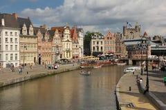 Korenlei gent belgië royalty-vrije stock afbeeldingen