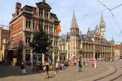 Korenmarkt gand belgium fotografie stock