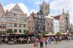 Korenmarkt gand belgium immagini stock libere da diritti