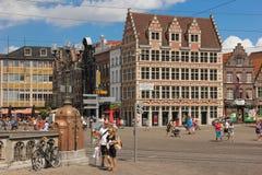 Korenmarkt gent belgien lizenzfreie stockbilder