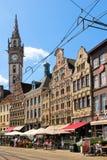 Korenmarkt. Ghent. Belgium. Colourful buidings in Korenmarkt. Ghent. Belgium Stock Images