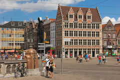 Korenmarkt . Ghent. Belgium Royalty Free Stock Images