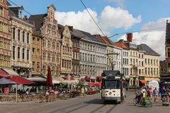Korenmarkt . Ghent. Belgium Royalty Free Stock Photos
