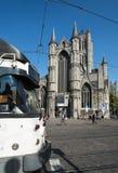 Korenmarkt la vieja plaza del mercado de Gante Fotografía de archivo libre de regalías