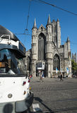 Korenmarkt the old market square of Ghent Royalty Free Stock Photography