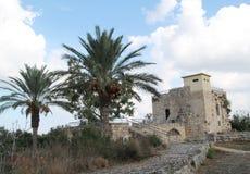 Korenmolen, het Nationale Park van Ein Afek, Israël stock foto's