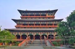 Koreyan buddistisk kloster i Lumbini - födelseort av Buddha Arkivbilder