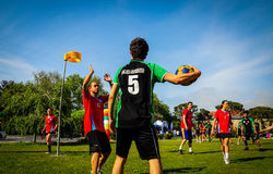 Korfball Game In Sports Festival Royalty Free Stock Images
