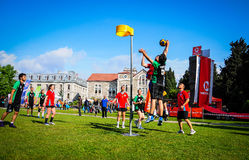 Korfball Match In Sports Festival Royalty Free Stock Photo