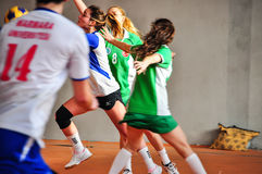 Korfball Tiger Passes The Defense Royalty Free Stock Photos