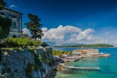 Korfu ö i Grekland royaltyfria bilder
