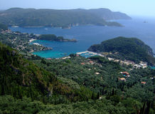 Korfu. Island paleokastritsa in greece Royalty Free Stock Photography