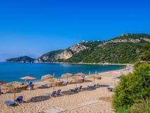 Korfu - Agios Georgios strand Fotografering för Bildbyråer