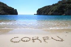 Het eiland van Korfu Stock Afbeelding