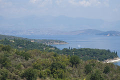 Korfu en Albanië Stock Afbeelding