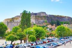 Korfu fästning Grekland Arkivbild