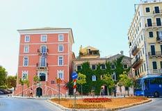 Korfu gata Grekland Royaltyfria Bilder