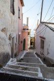 Korfu gränd Fotografering för Bildbyråer