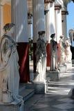 korfu Greece 27 08 2014 Statua przy pałac Achillion Zdjęcie Royalty Free