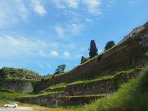 Korfu Grekland-gammal fästning Royaltyfri Fotografi